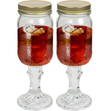 Mason Jar Wine Glass (Set of 2)