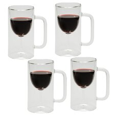 Inverted Hopside Down Wine Glass in Mug (Set of 4)