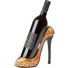 Leopard Print High Heel Wine Bottle Holder