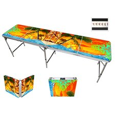 """96"""" L Tropics Beach Party Beer Pong Table"""