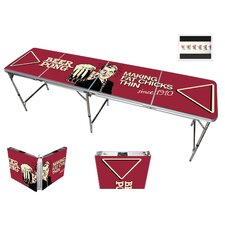 "96"" L Funny Vintage Comedic Beer Pong Table"