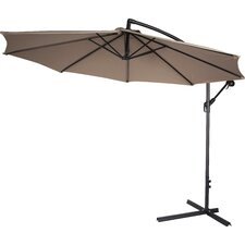 "120"" Deluxe Polyester Offset Patio Umbrella"