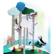 Birds 4 in 1: Jay Pop Out Card