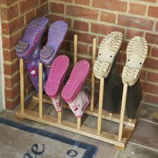 Wooden Boot Holder Rack
