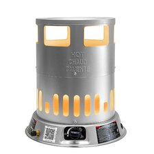 Portable 80,000-BTU Propane Powered Convection Heater with 1-Handed Piezo Ignition