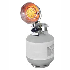 Propane Powered 15,000-BTU Single Burner Tank Top Radiant Heater with Tip Over Safety Switch