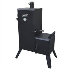 Double Door Vertical Charcoal Smoker with Adjustable Cook Grate