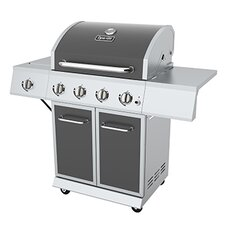 Propane Gas Grill with Side Burner & Full Storage Cart