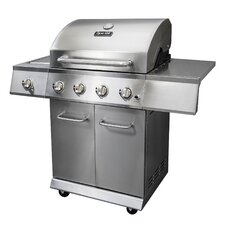 <strong>Dyna-Glo</strong> 4 Burner Gas Grill with Side Burner and Electric Pulse Ignition