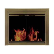 Cahill Cabinet Style Fireplace Screen and Smoked Glass Door
