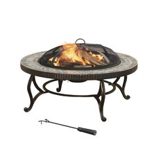 <strong>Pleasant Hearth</strong> Outdoor Natural Slate Fire Pit
