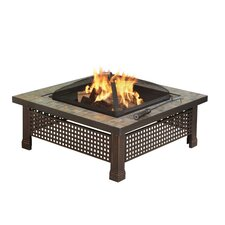 <strong>Pleasant Hearth</strong> Bradford Outdoor Natural Slate Fire Pit
