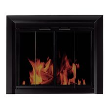 Clairmont Fireplace Screen and Bi-Fold Track-Free Smoked Glass Door