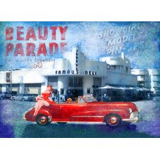 Blue Parade Canvas Wall Art