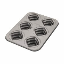 Novelty 6-Cup Square Cakelette Pan