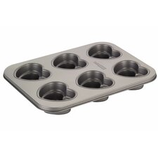 Novelty 6-Cup Heart Cakelette Pan