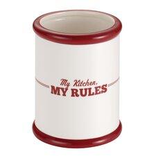 """My Kitchen, My Rules"" Ceramic Tool Crock"