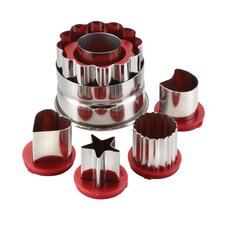 6 Piece Classic Linzer Cookie Cutter Set