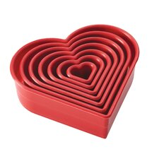 7-Piece Heart Fondant and Cookie Cutter Set