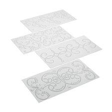 4-Piece Classic Fondant Imprint Mat Set