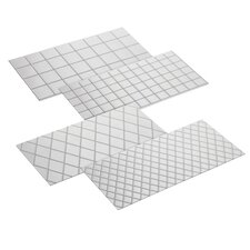 4-Piece Quilted Fondant Imprint Mat Set