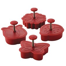 <strong>Cake Boss</strong> 4 Piece Springtime Fondant Press Set