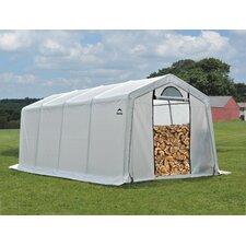 10' W x 20' D Polyethylene Firewood Storage Shed