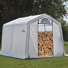10' W x 10' D Polyethylene Firewood Storage Shed