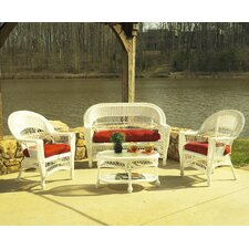 Cape Cod 4 Piece Deep Seating Group with Cushions