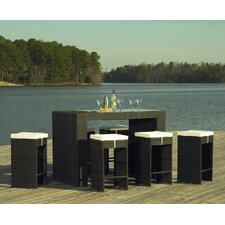<strong>ElanaMar Designs</strong> Captiva 7 Piece Bar Set with Cushions