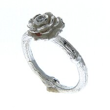 Rose Sadie Sterling Silver Round Cut Gemstone Ring