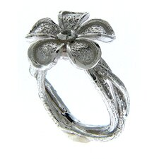 Arlene Sterling Silver Round Cut Gemstone 3 Vine Ring