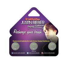 Justin Bieber Singing Toothbrush Replacement Batteries (Pack of 3)