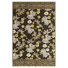 Saphir Mah Dark Gray / Green Rug