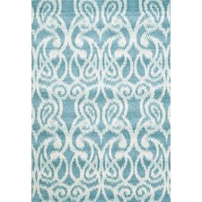 Harlow Teal/White Area Rug