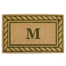 Rope Border Personalized Monogrammed Doormat