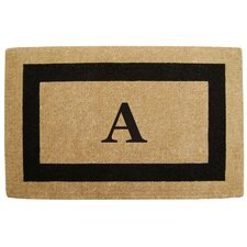 <strong>Creative Accents</strong> Single Picture Frame Personalized Monogrammed Doormat