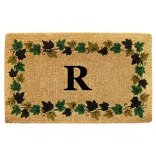 Vine Border Personalized Monogrammed Doormat