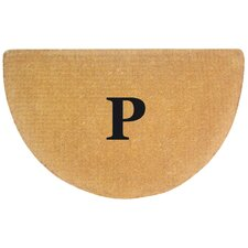 Half Round No Border- Personalized Monogrammed Doormat