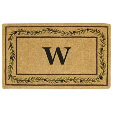 Olive Branch Border Personalized Monogrammed Doormat