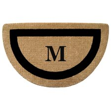 <strong>Creative Accents</strong> Half Round Single Picture Frame Monogrammed  Doormat