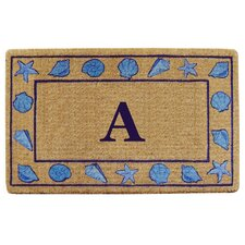 Seashells Border Personalized Monogrammed Doormat