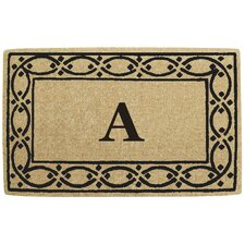 Lattice Border Personalized Monogrammed Doormat