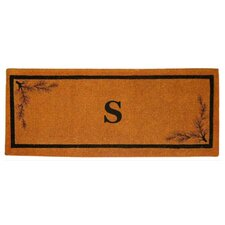 <strong>Creative Accents</strong> Acorn Border Personalized Monogrammed Doormat