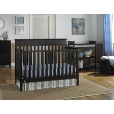 Newbury 4-in-1 Convertible Crib with Metal Bed Frame