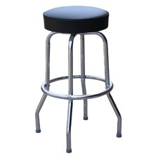 "Retro Home Backless 24"" Swivel Bar Stool with Cusion"
