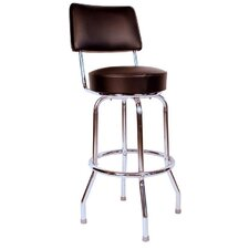 "Retro Home 24"" Swivel Bar Stool with Cusion"