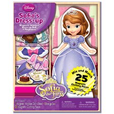 Sofia the First Magnetic Wooden 25 Piece Doll Set