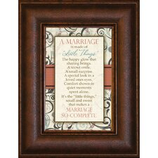 <strong>The James Lawrence Company</strong> A Marriage is Mini Framed Wall Art