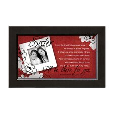 Sister - There for You Framed Wall Art